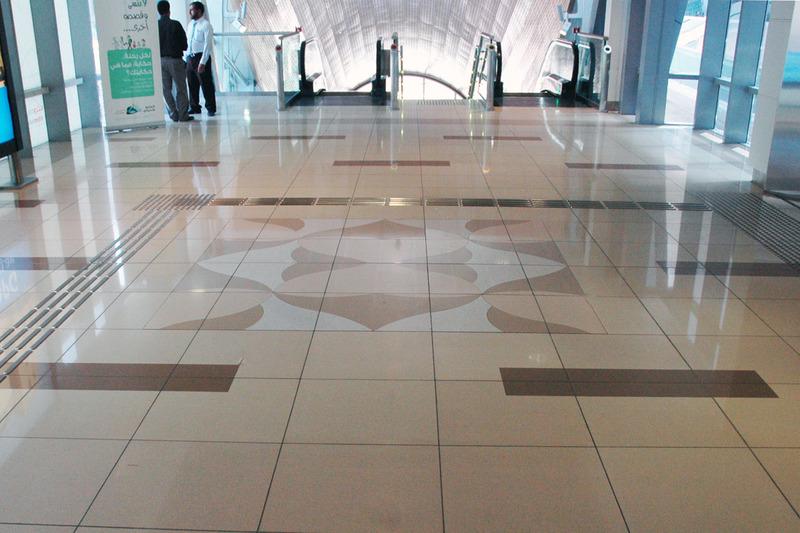 Burj Khalifa Metro Station - Dubai, UAE   Santamargherita Flooring