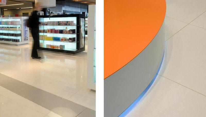 Duty Free Shop Carrasco Airport - Uruguay   Santamargherita Surfaces