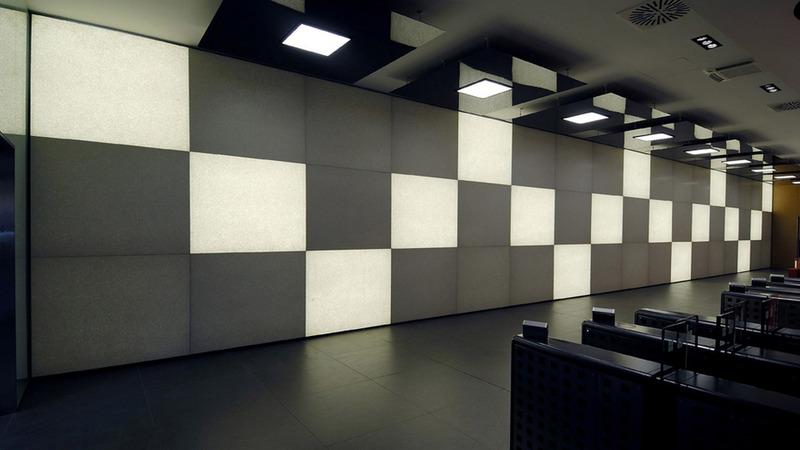 Unicredit - Milan - Italy   Santamargherita Backlit Wall